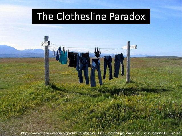 http://commons.wikimedia.org/wiki/File:Washing_Line,_Iceland.jpg Washing Line in Iceland CC-BY-SA The Clothesline Paradox