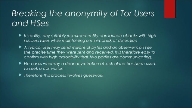 Darknets - Introduction & Deanonymization of Tor Users By