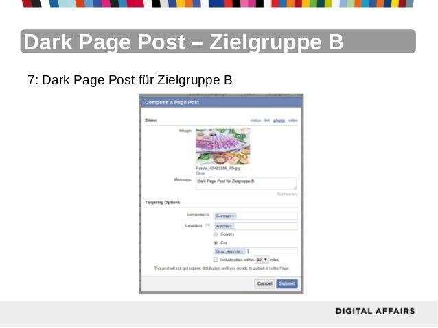 Dark Page Post – Zielgruppe B7: Dark Page Post für Zielgruppe B