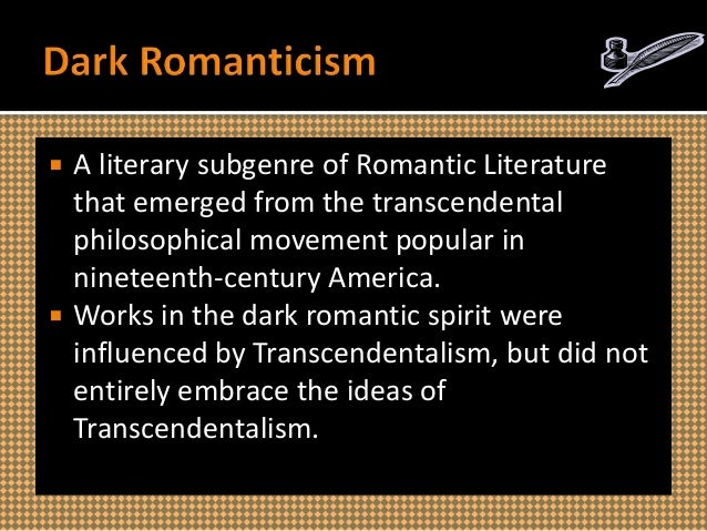 romanticism and transcendentalism Rationalism, romanticism romanticism & transcendentalism part i: the intellectual and social foundations of romantic thought - romanticism & transcendentalism.
