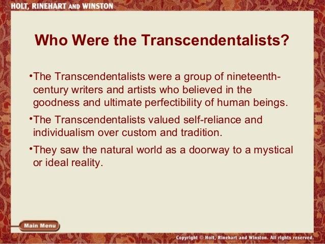 Transcendentalism Beliefs