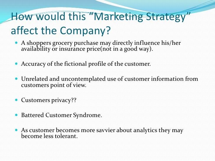 Report: the Dark Side of Customer Analytics