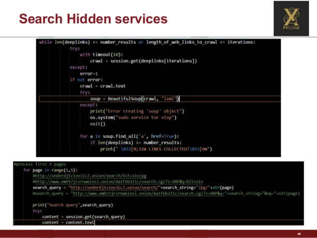 Darkweb + Python: discover, analyze and extract information from hidd…
