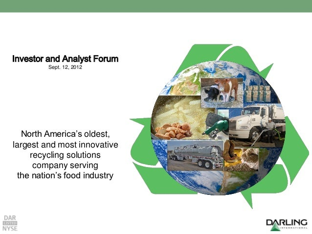 Investor and Analyst Forum – Sept. 12, 2012Investor and Analyst Forum             Sept. 12, 2012   North America's oldest,...
