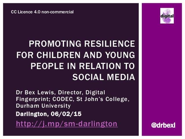 Dr Bex Lewis, Director, Digital Fingerprint; CODEC, St John's College, Durham University Darlington, 06/02/15 http://j.mp/...