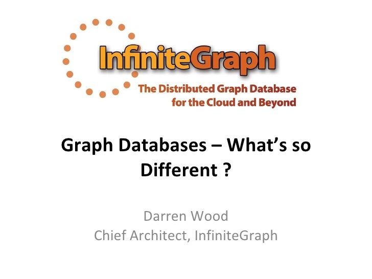 Graph Databases – What's so Different ? Darren Wood Chief Architect, InfiniteGraph