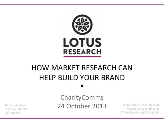 HOW  MARKET  RESEARCH  CAN   HELP  BUILD  YOUR  BRAND    16  Victoria  Road   Leighton  Buzzard  ...