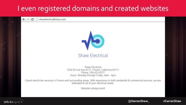 @DarrenShaw_ +DarrenShaw We submitted the businesses on October 5th Infogroup Localeze Acxiom Factual Moz Local Yext White...