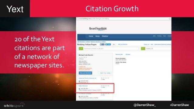 Citation GrowthYext @DarrenShaw_ +DarrenShaw