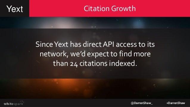 Checking for indexedYext citationsYext @DarrenShaw_ +DarrenShaw