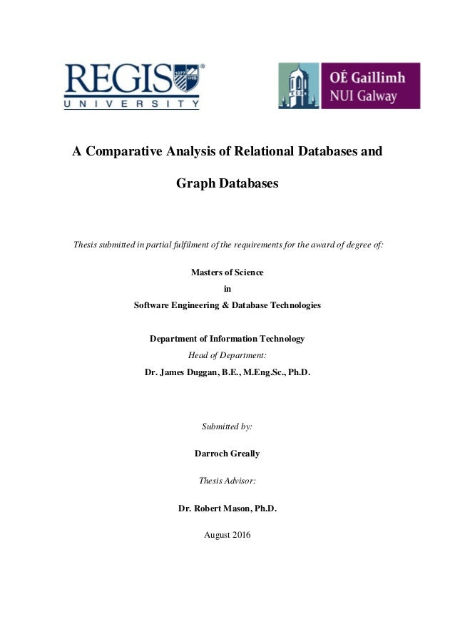 object relational databases phd thesis Loughborough university institutional repository object-oriented databases and the based on the relational algebra or calculus this thesis also.