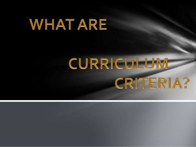  Have the goals of curriculum be clearly stated and is used