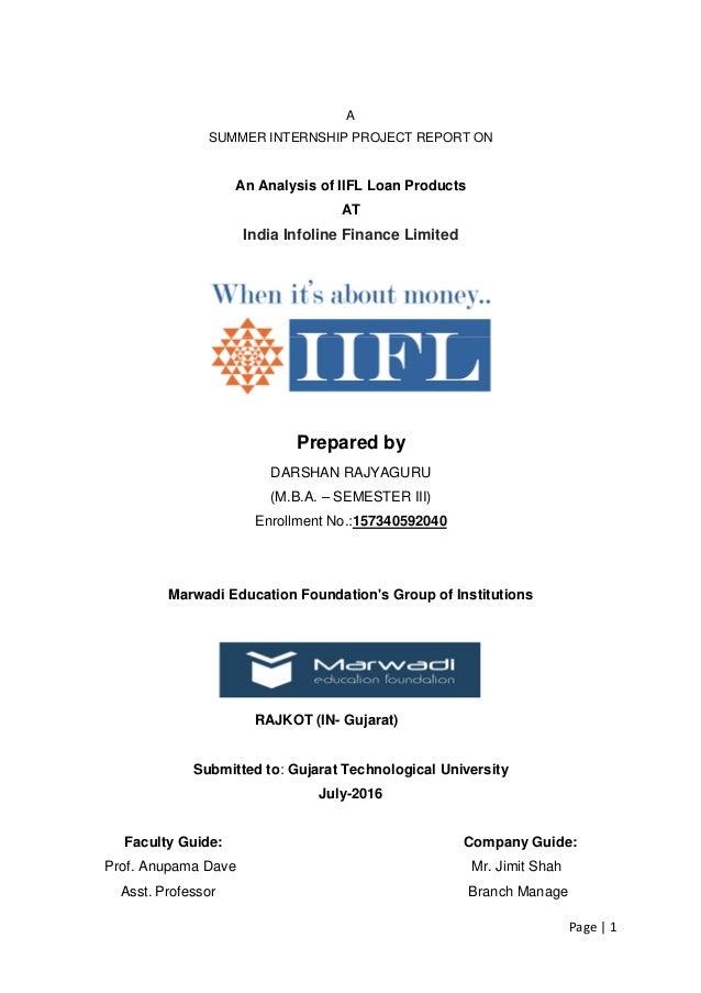 literature review of iifl