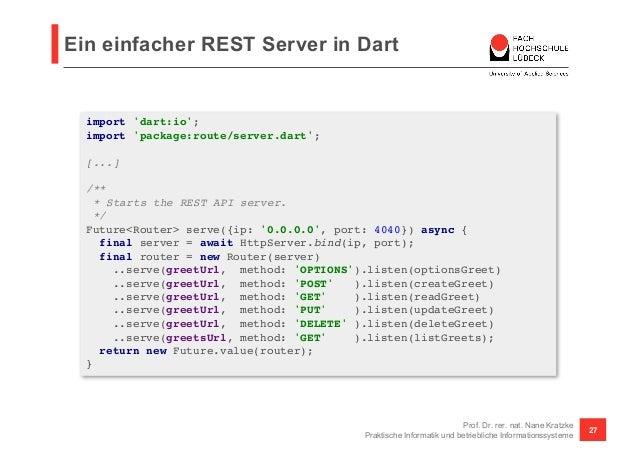 RESTful APIs mit Dart