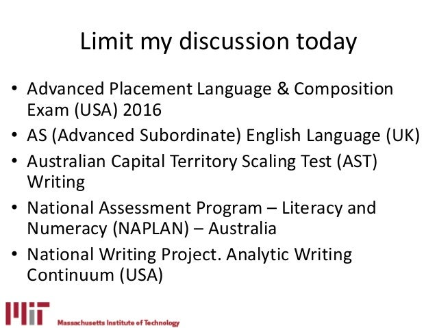 My access writing assessment tools