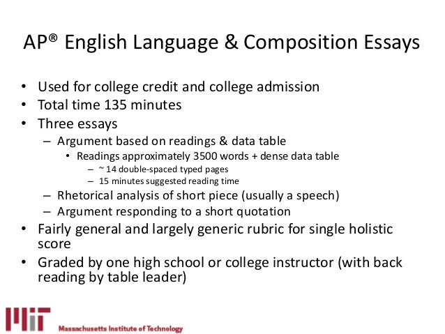ap language and composition grading rubric argument essay Ap® english language and composition sample scoring guidelines for the synthesis essay  especially sophisticated in their argument and synthesis of cited sources .