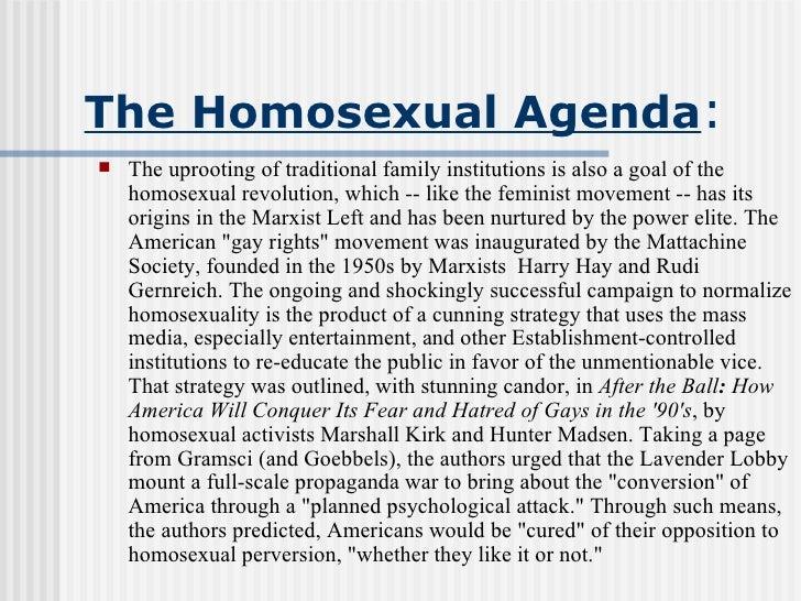 Homosexual manifesto