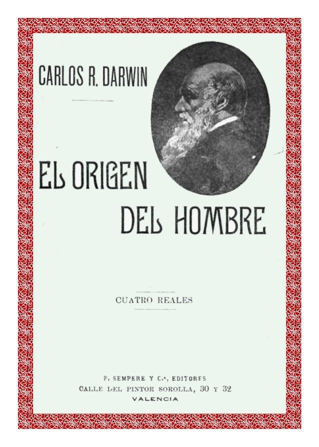 Carlos R. Darwin   -   El Origen del Hombre   -   pág. 1