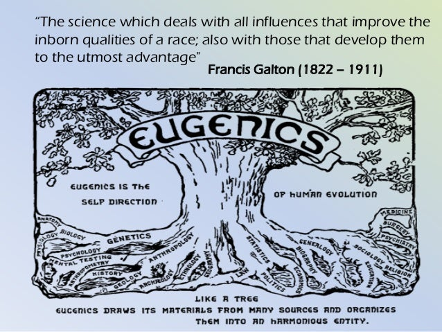 eugenics the artificial selection Introduction to eugenics introduction to eugenics or artificial selection in the hope of speeding up the evolution of 'desirable' characteristics and the.