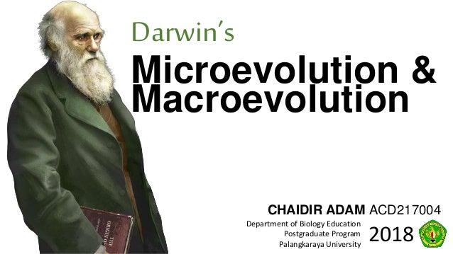 Darwin's Microevolution & Macroevolution (no videos