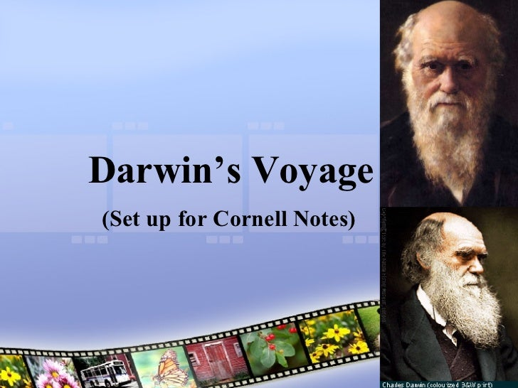 Darwin's Voyage (Set up for Cornell Notes)