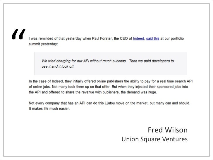 """""""<br />Fred Wilson<br />Union Square Ventures<br />"""