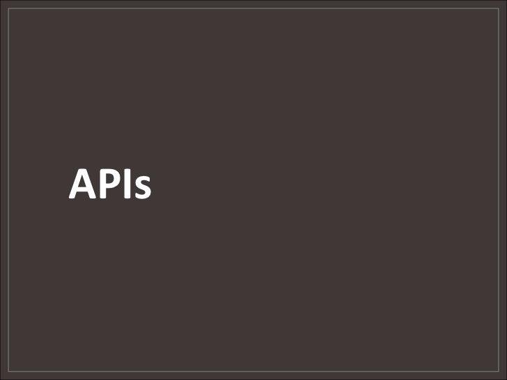 APIs<br />