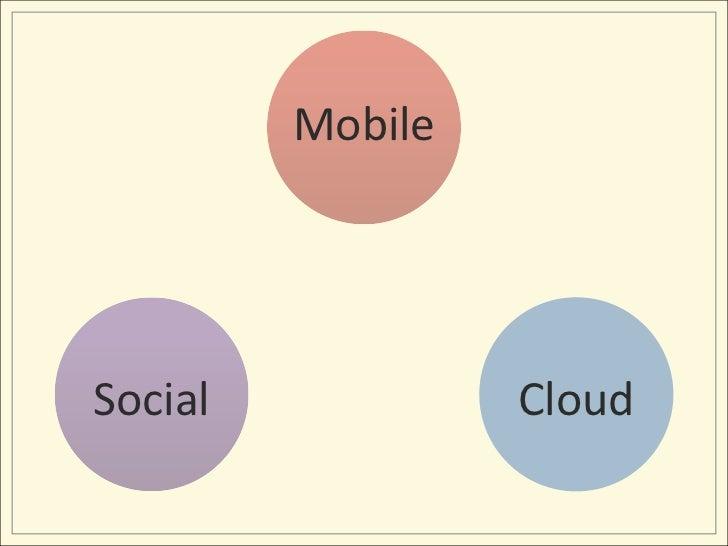 Mobile<br />Social<br />Cloud<br />