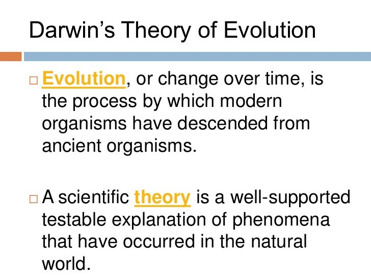 an overview of charles darwins theory of evolution Overview virtually every  darwin's theory of evolution--in its contemporary form--still has many vocal critics for a  charles darwin the autobiography.