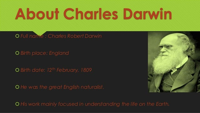 darwin s theory of evolution 2 about charles darwin