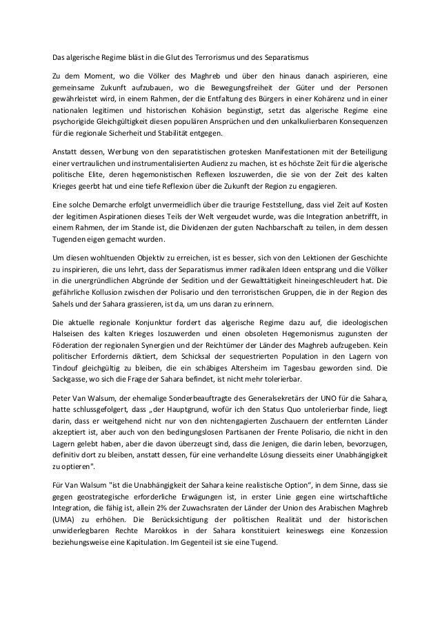 Das algerische Regime bläst in die Glut des Terrorismus und des Separatismus Zu dem Moment, wo die Völker des Maghreb und ...