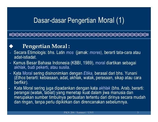 Dasar dasar pendidikan moral