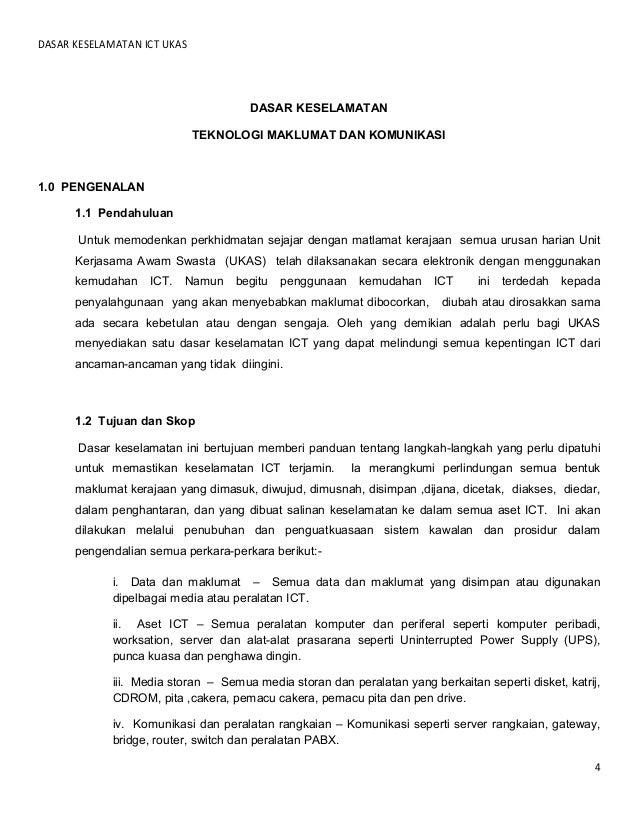 Rangka Dasar Keselamatan Teknologi Maklumat Dan Komunikasi Pdf Document