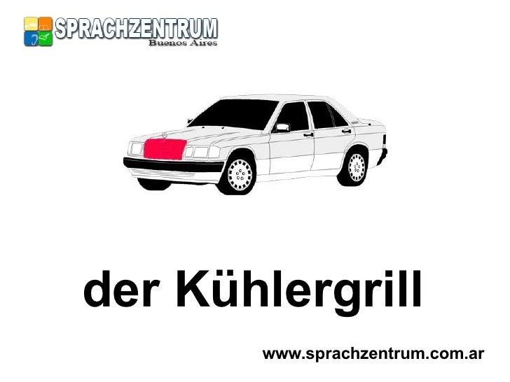Car In German >> Das Auto Parts Of A Car In German