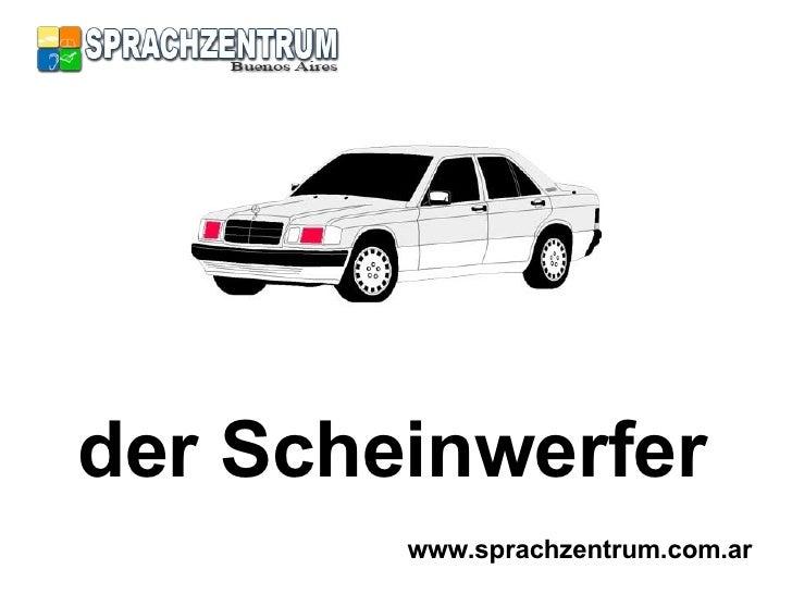 Das Auto - Parts of a car in German