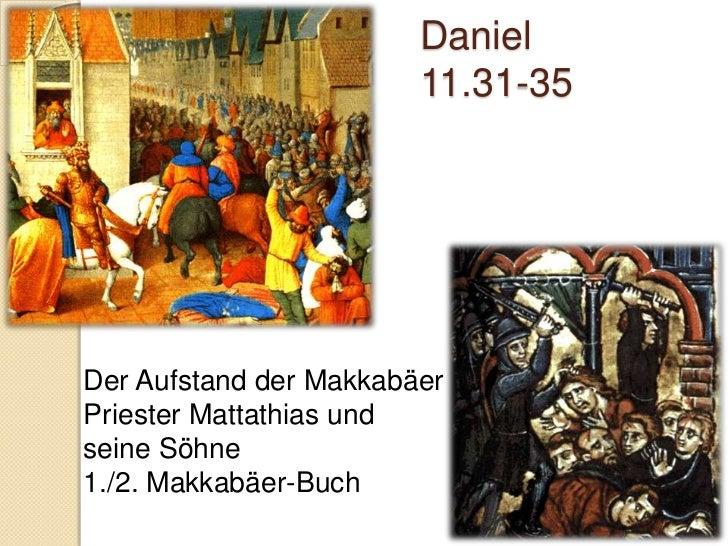 Daniel 12Blick in die EndzeitBewahrt bis ans EndeEr selbst aber, der Gott des Friedens, heilige euch durchund durch, und e...