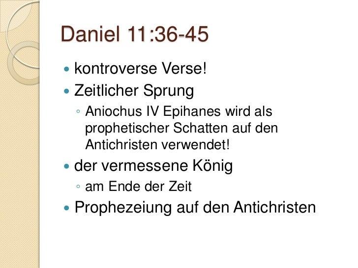 Daniel 12:1   Aktivität der Engel im Gericht    ◦ Speziell der Erzengel Michael   Grosse Drangsal    ◦ Matt. 24:21   Gl...