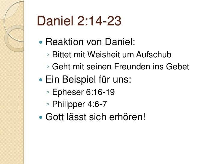Vorherrschaft der Nationen Dan. 2:4 – 7:28  Aramäisch Israels Versagen    ◦ 5. Mose 28:13-44   Hebräische Literaturfor...