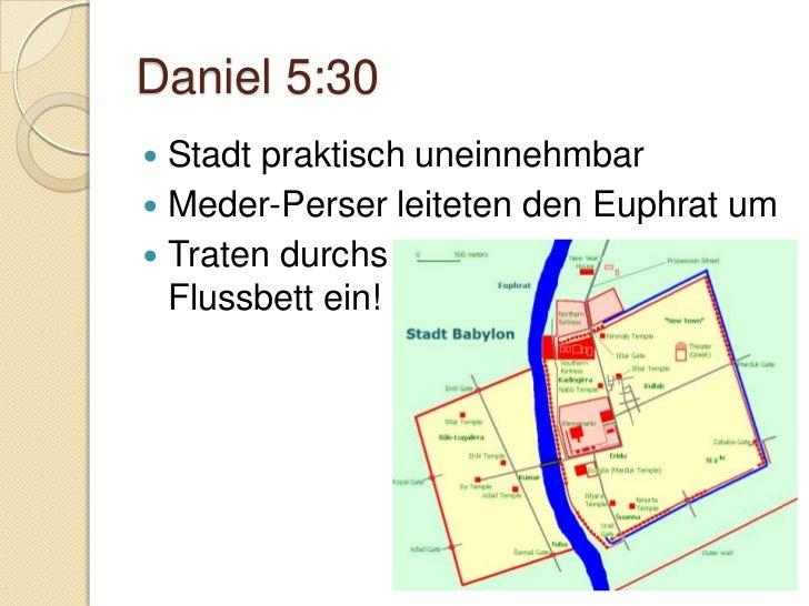 Daniel 6Daniel in der LöwengrubeBewahrt bis ans EndeEr selbst aber, der Gott des Friedens, heilige euch durchund durch, un...