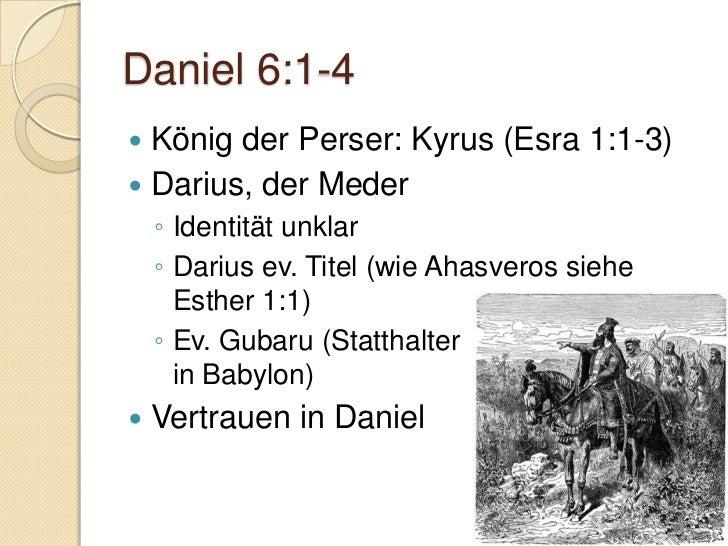 Daniel 6:7-10   Dem König wird geschmeichelt    ◦ Siehe Esther 3:8-11 Konsultiert weder Daniel noch Gott Im eigenen Net...