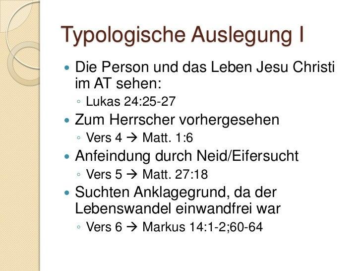 Typologische Auslegung II   Frühmorgens ( Auferstehung)    ◦ Vers 20  Joh. 20:1   der Ruf wird öffentlich    wiederher...
