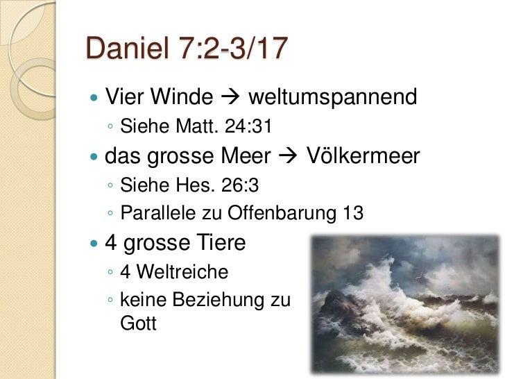 Daniel 7:5 – Medo-Persien Parallele Daniel 2:32/39a Bär  stark, gross eine Seite aufgerichtet:    ◦ Persien stärker al...