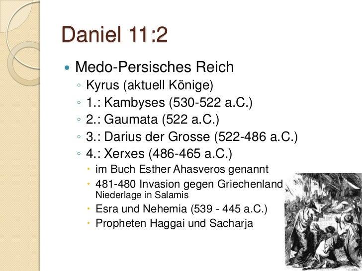 Daniel 11.6   Antiochus II Theos (261-246 a.C.)      Heirat mit Berenike      vergiftet durch Laodike (Ex-Frau)   Ptol...