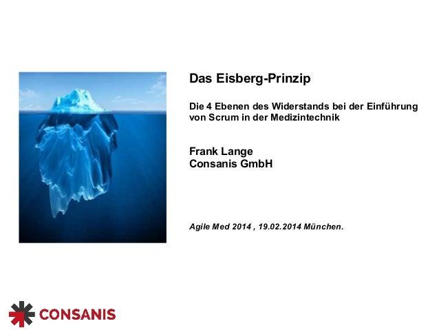 Das Eisberg-Prinzip  Die 4 Ebenen des Widerstands bei der Einführung  von Scrum in der Medizintechnik  Frank Lange  Consan...