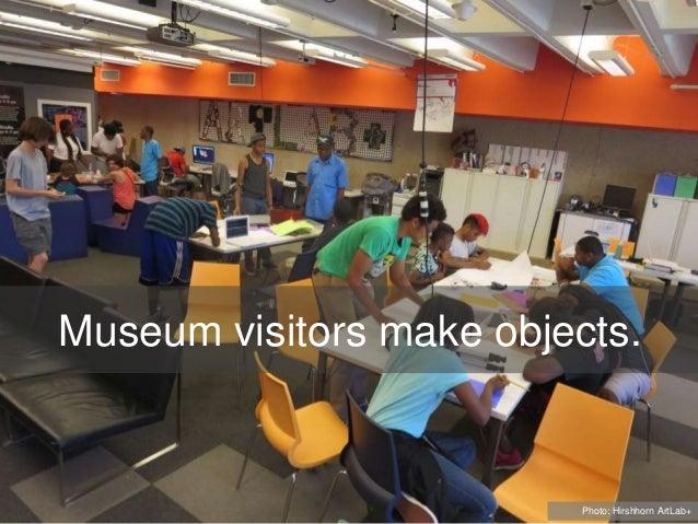 Museum visitors make objects. Photo: Hirshhorn ArtLab+