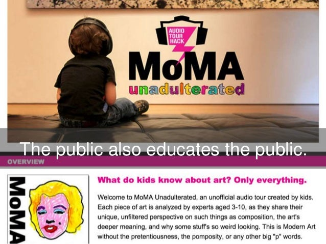 The public also educates the public.