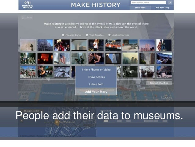 People add their data to museums.