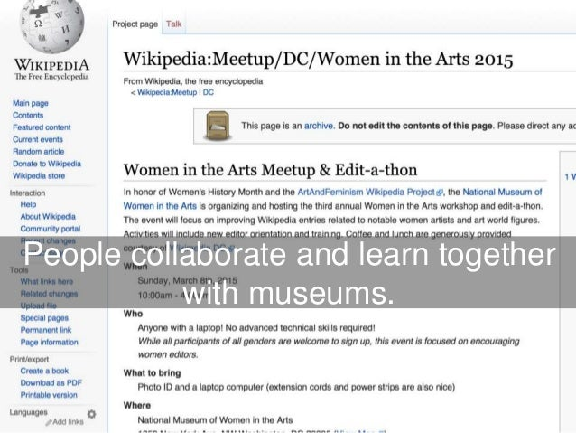 People collaborate and learn together with museums.