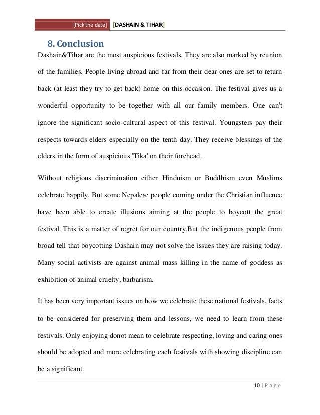 Dashain and tihar: merits and demerits