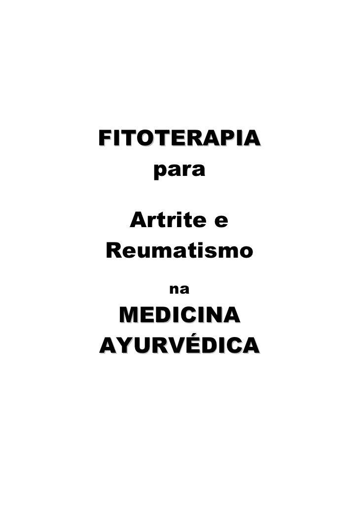 FITOTERAPIA     para    Artrite e Reumatismo     na  MEDICINA AYURVÉDICA